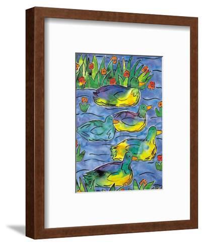 Ducks on Patrol-Lisa V^ Keaney-Framed Art Print