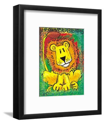 Lenny the Lion-Julia Hulme-Framed Art Print