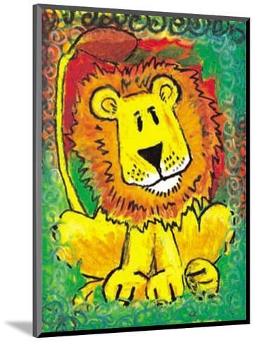 Lenny the Lion-Julia Hulme-Mounted Art Print