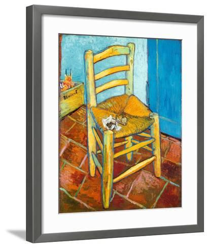 Chair with Pipe-Vincent van Gogh-Framed Art Print