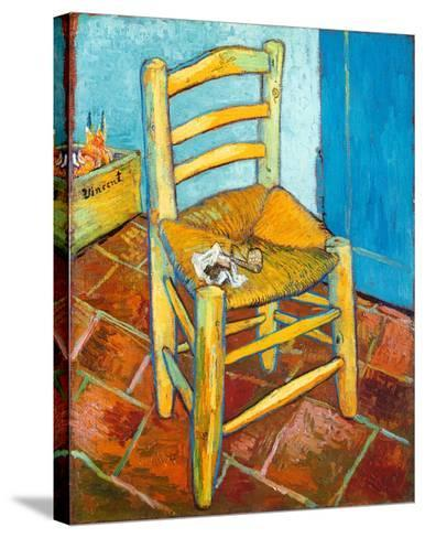 Chair with Pipe-Vincent van Gogh-Stretched Canvas Print