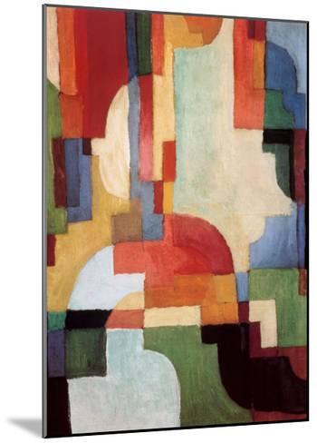 Farbige Formen I, 1933-Auguste Macke-Mounted Art Print