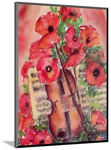 Violin and Poppies-Dina Cuthbertson-Mounted Art Print