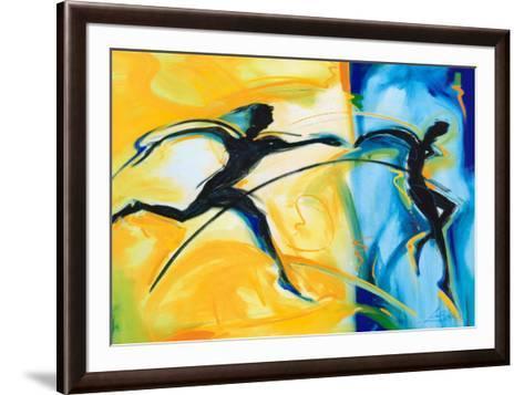 Relay Race II-Alfred Gockel-Framed Art Print