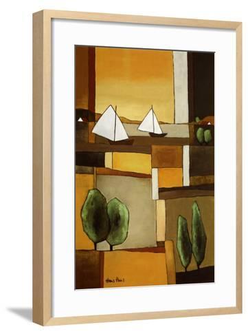 Two Boats II-Hans Paus-Framed Art Print