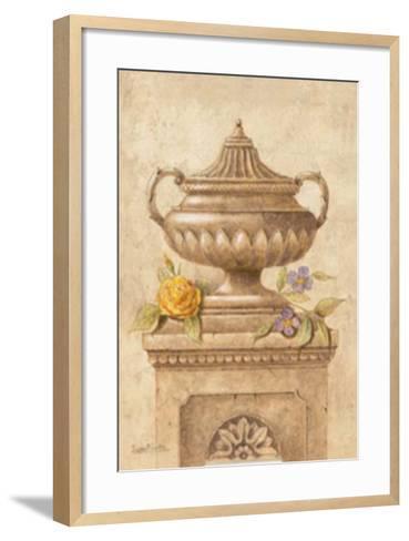 Vasijas con Flores I-Javier Fuentes-Framed Art Print