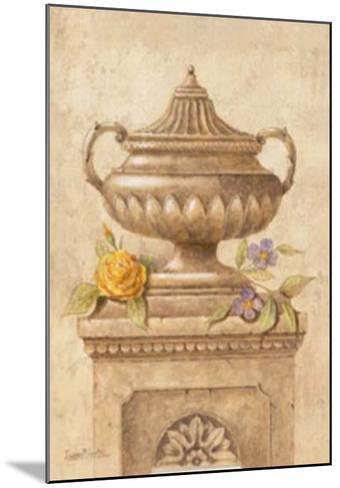 Vasijas con Flores I-Javier Fuentes-Mounted Art Print