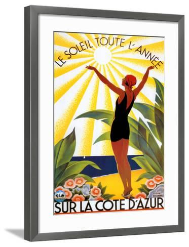 Soleil Toute Lannee-Roger Broders-Framed Art Print