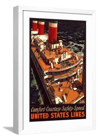 United States Lines-Pike-Framed Art Print