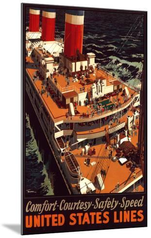 United States Lines-Pike-Mounted Art Print
