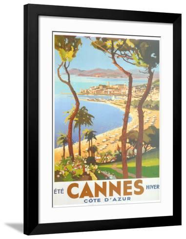 Ete Cannes Hiver-Peri-Framed Art Print