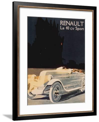 Renault La 40 Cv Sport--Framed Art Print