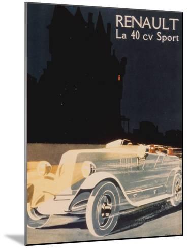 Renault La 40 Cv Sport--Mounted Art Print