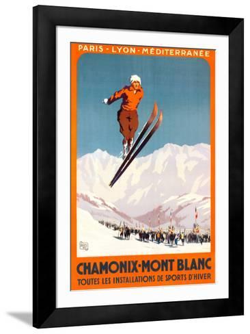 Chamonix, Mont Blanc-Alo (Charles-Jean Hallo)-Framed Art Print