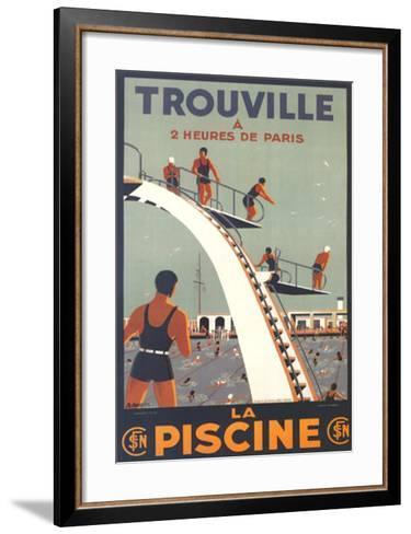 Trouville, La Piscine-Molusson-Framed Art Print