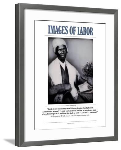 Images of Labor - Sojourner Truth--Framed Art Print