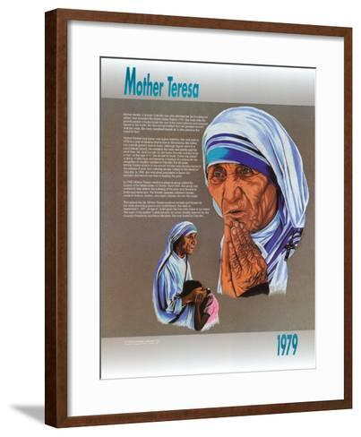 Mother Teresa--Framed Art Print
