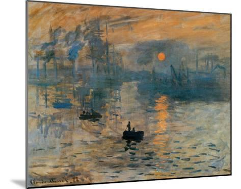Impression, Sunrise, c.1872-Claude Monet-Mounted Art Print
