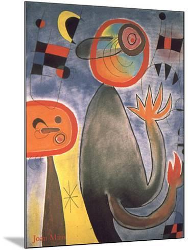 Animal Composition-Joan Mir?-Mounted Art Print