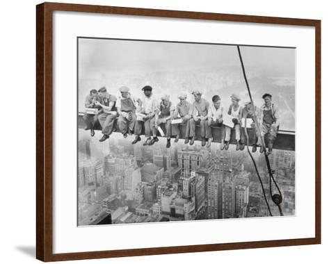 Lunch Atop a Skyscraper, c.1932-Charles C^ Ebbets-Framed Art Print
