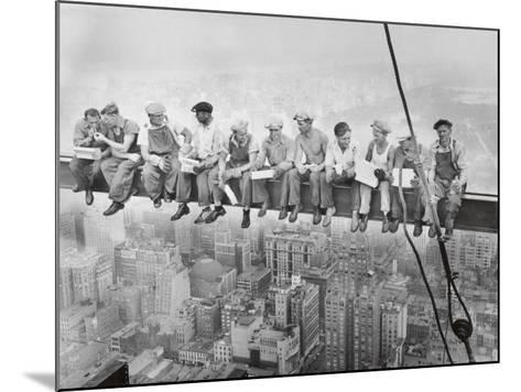 Lunch Atop a Skyscraper, c.1932-Charles C^ Ebbets-Mounted Art Print
