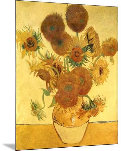 Sunflowers-Vincent van Gogh-Mounted Art Print
