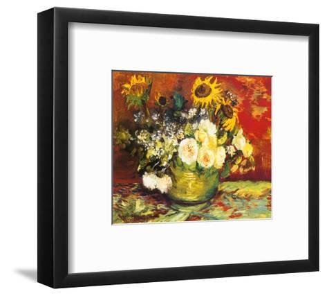 Vase of Flowers-Vincent van Gogh-Framed Art Print