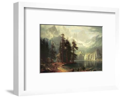 Sierra Nevada in California-Albert Bierstadt-Framed Art Print