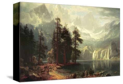 Sierra Nevada in California-Albert Bierstadt-Stretched Canvas Print