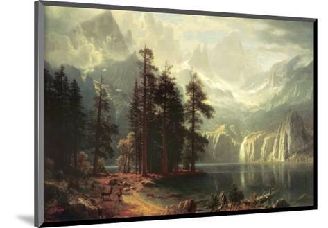 Sierra Nevada in California-Albert Bierstadt-Mounted Art Print