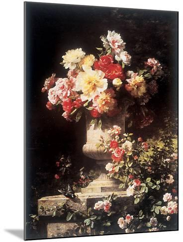 Peonies and Roses-Louis-Marie Lemaire-Mounted Art Print
