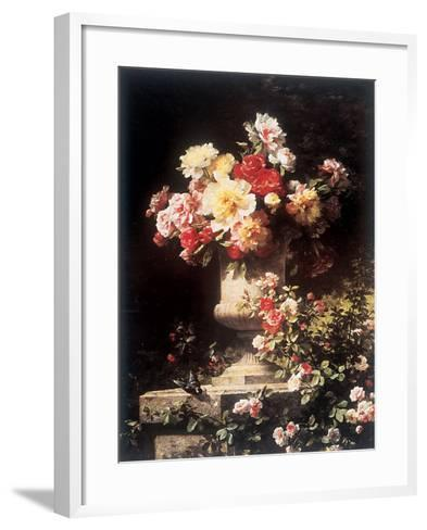 Peonies and Roses-Louis-Marie Lemaire-Framed Art Print