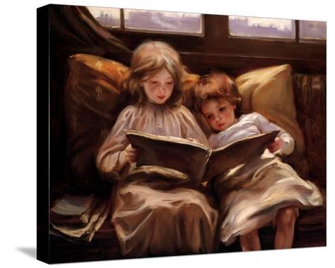 Interesting Story-Laura Muntz Lyall-Stretched Canvas Print