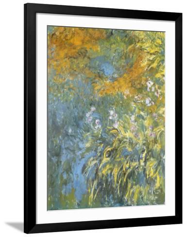 Yellow Iris-Claude Monet-Framed Art Print