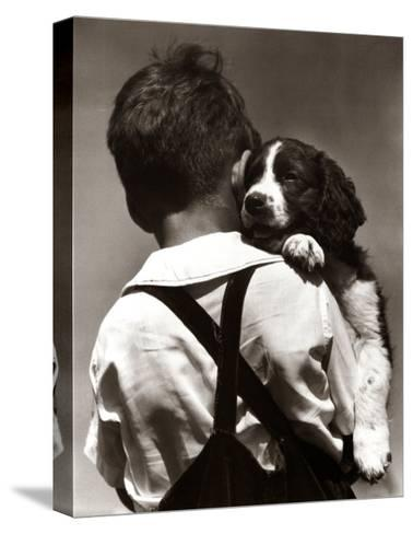 Puppy Love-H^ Armstrong Roberts-Stretched Canvas Print