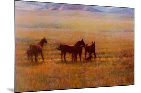 Mares and Foals-Colleen Howe-Mounted Art Print