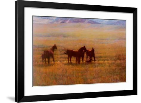 Mares and Foals-Colleen Howe-Framed Art Print