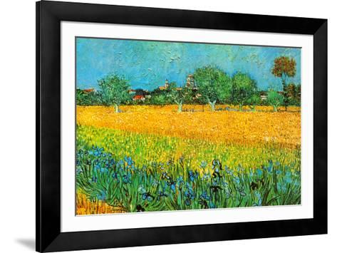 View of Arles with Irises-Vincent van Gogh-Framed Art Print