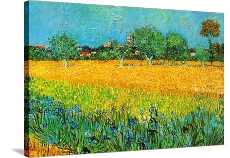 View of Arles with Irises-Vincent van Gogh-Stretched Canvas Print