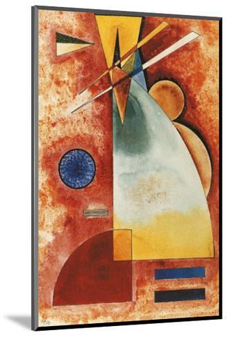 In einander, c.1928-Wassily Kandinsky-Mounted Art Print