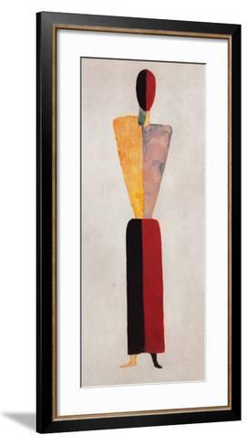 The Girl, Figure on White-Kasimir Malevich-Framed Art Print