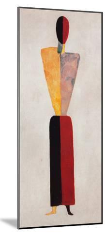 The Girl, Figure on White-Kasimir Malevich-Mounted Art Print