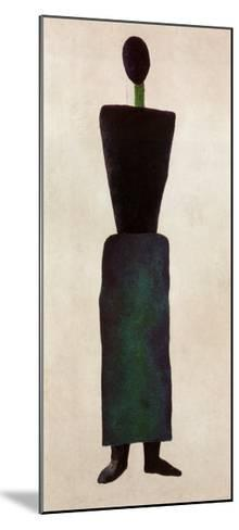 Womanfigure-Kasimir Malevich-Mounted Art Print
