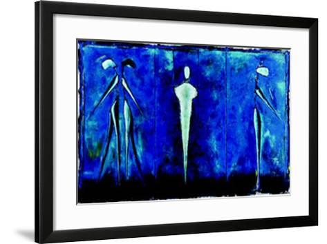 M-2 (Blue)-Heinz Felbermair-Framed Art Print
