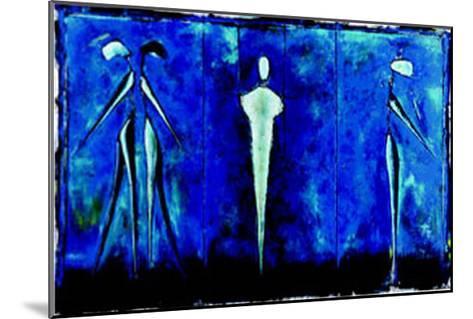M-2 (Blue)-Heinz Felbermair-Mounted Art Print