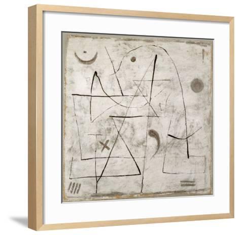 Gedanken bei Schnee, c.1933-Paul Klee-Framed Art Print