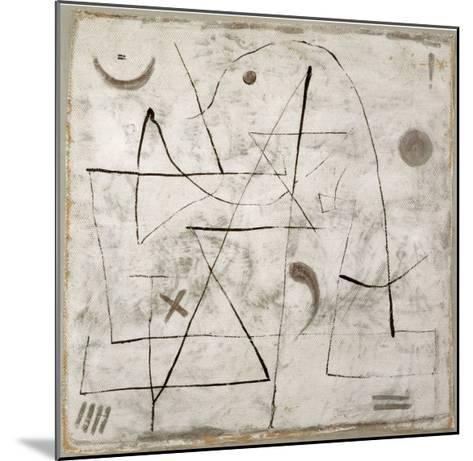 Gedanken bei Schnee, c.1933-Paul Klee-Mounted Art Print
