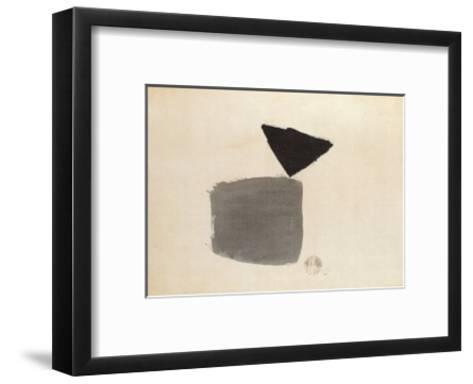 Viereck Und Dreieck, c.1948-Julius Bissier-Framed Art Print