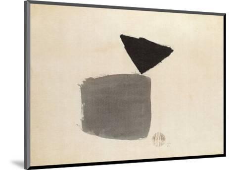 Viereck Und Dreieck, c.1948-Julius Bissier-Mounted Art Print