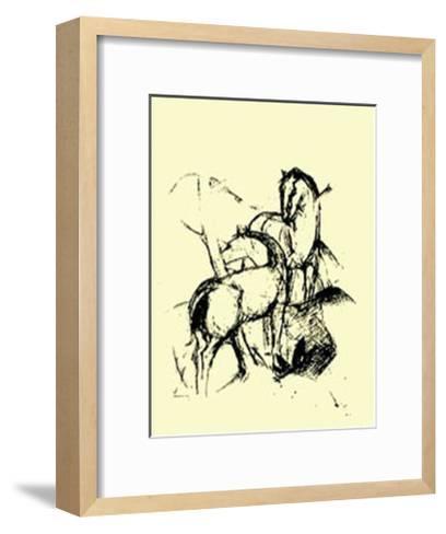 Zwei Pferde, c.1911-Franz Marc-Framed Art Print